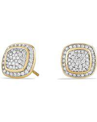 David Yurman Earrings With Diamonds In 18K Gold - Lyst