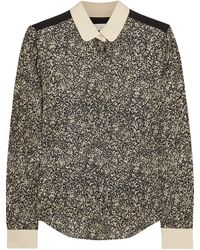 Chloé Printed Silk Jacquard Shirt - Lyst