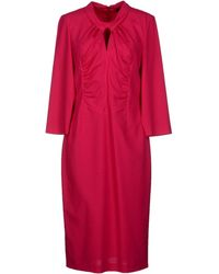 Rena Lange Round Collar Crêpe Purple Short Dress - Lyst