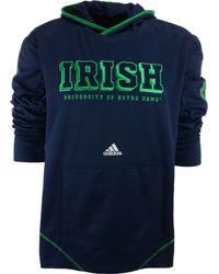 Adidas Mens Notre Dame Fighting Irish Campus Pu Hoodie - Lyst