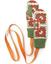 Tak Ori Green Flower Gloves - Lyst