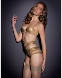 Agent Provocateur Gold Astra Bra - Lyst
