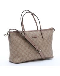 Gucci Light Pink Gg Canvas Convertible Tote Bag - Lyst
