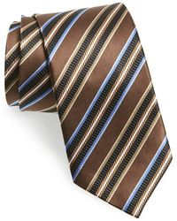 JZ Richards - Stripe Silk Tie - Lyst
