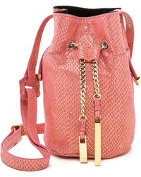 Halston Heritage Mini Bucket Bag - Melon - Lyst