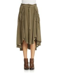 Free People Cargo Skirt khaki - Lyst