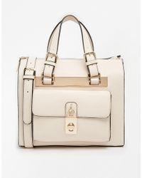 Dune Darton Bag with Padlock Detail in Cream - Lyst