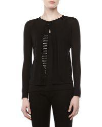 Versace Studtrim Knit Sweater - Lyst