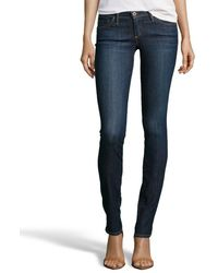 Ag Adriano Goldschmied Crest Blue Wash The Aubrey - Skinny Straight Jeans - Lyst