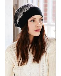 Urban Outfitters - Brushed Fair Isle Slouch Beanie - Lyst