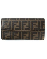 Fendi Ff Logo 'Continental' Wallet - Lyst