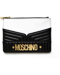 Moschino Quilted Pouch - Lyst