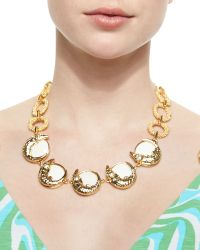 Lilly Pulitzer - Everglades Alligator Charm Statement Necklace - Lyst