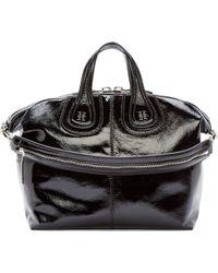 Givenchy Black Medium Patent Nightingale Bag - Lyst