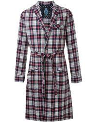 Guild Prime - Flannel Plaid Belted Coat - Lyst