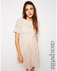 Asos Exclusive Premium Lace Prom Dress with Crochet Applique - Lyst