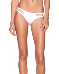 Seafolly Mesh About High-Cut Brazilian Bikini Bottoms white - Lyst