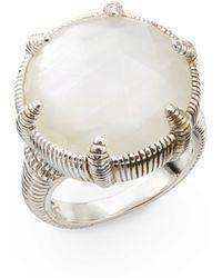 Judith Ripka Motherofpearl Doublet Sterling Silver Ring - Lyst