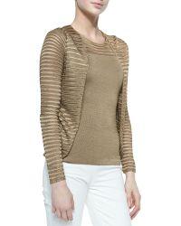 Ralph Lauren Collection Open Mesh-knit Cardigan - Lyst