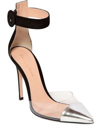 Gianvito Rossi 100Mm Suede & Metallic Leather Pumps - Lyst