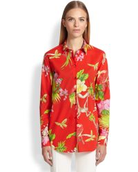 Etro Printed Button-Down Blouse - Lyst