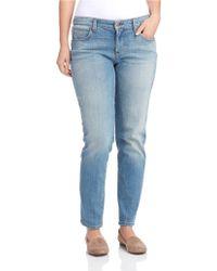 Eileen Fisher Blue Boyfriend Jeans - Lyst
