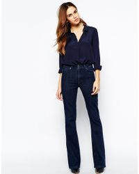 Warehouse | 70's Flared Jeans - Indigo | Lyst