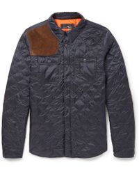 Polo Ralph Lauren Quilted Nylon and Suede Equestrian Jacket - Lyst
