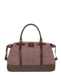 Jaeger Heritage Check Holdall - Red