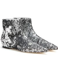 Dolce & Gabbana Sequin Ankle Boots - Lyst