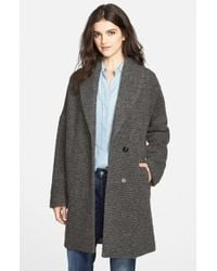 7 For All Mankind - Textured Drop Shoulder Coat - Lyst