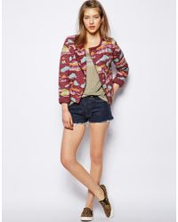 NW3 by Hobbs - Country Biker Jacket in Japanese Kimono Print - Lyst
