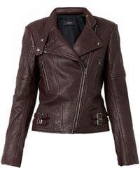Joseph Bubble-Leather Biker Jacket - Lyst