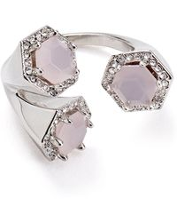 Rebecca Minkoff - Three Stone Wrap Ring - Lyst