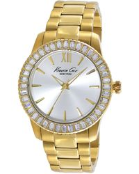 Kenneth Cole Women'S Gold Ion-Plated Stainless Steel Bracelet Watch 39Mm Kc4989 - Lyst
