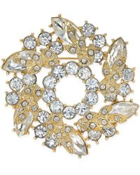 Charter Club - Gold-tone Crystal Wreath Pin, Only At Macy's - Lyst