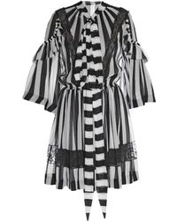 Givenchy Striped Silk-Chiffon Dress - Lyst