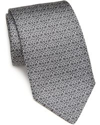 Ferragamo | Art Deco Gancini Silk Tie | Lyst