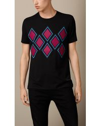 Burberry Abstract Argyle Print T-shirt - Lyst