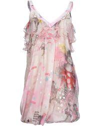 John Galliano Short Dress - Lyst