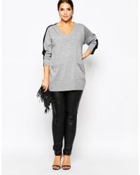 Carmakoma - Knitted Top With Relaxed V Neck - Lyst