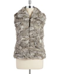 Surell Rabbit Fur Vest - Lyst