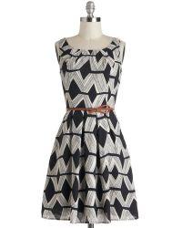 Sunny Girl Pty Lltd Graphic Gourmet Dress Diamonds - Lyst