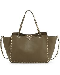 Valentino Rockstud Leather Tote Bag - Lyst