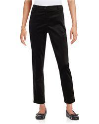 Anne Klein Corduroy Jeans - Black