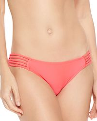 Seafolly Shimmery Braid-strap Hipster Bottom - Lyst