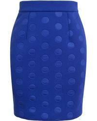 Stella McCartney Neoprene Jersey Dot Skirt - Lyst
