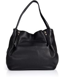 Burberry Shoes & Accessories Textured Leather Tote Bag - Lyst