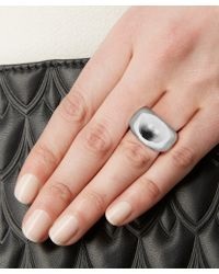 Jennifer Fisher Silver-plated Cylinder Ring - Metallic