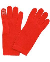 Portolano | Tomato Cashmere Itouch Gloves | Lyst